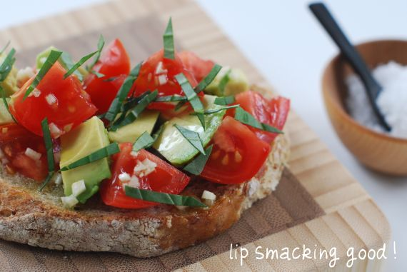 Fresh Tomato & Avocado Toast- Whole, Real and Local Food in Season ...