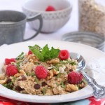 Millet & Raisin Breakfast w/ Raspberries & Fresh Mint