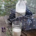 lavender almond milk bottle basket front view (1 of 1)
