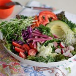 super salad w/ dressing & fork