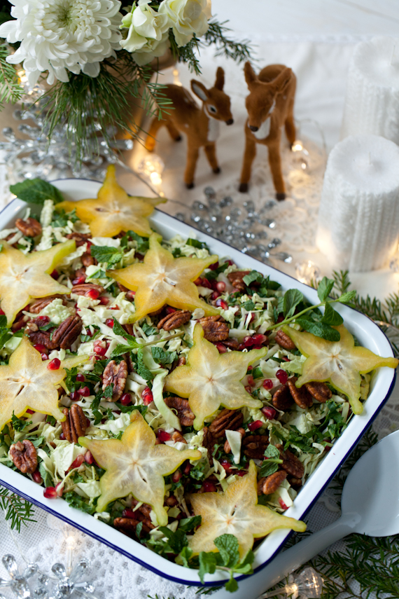 festive holiday salad pommegranate candied pecans starfruit (2 of 3)